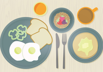 Vector Breakfast Illustration - vector gratuit #359807