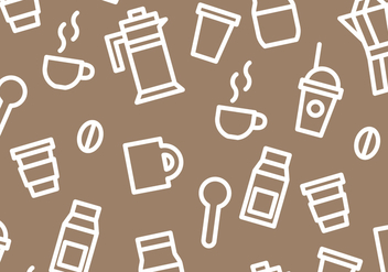 Coffee Pattern Vector - vector #359847 gratis