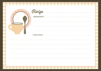Vector Recipe Cards - vector gratuit #359857