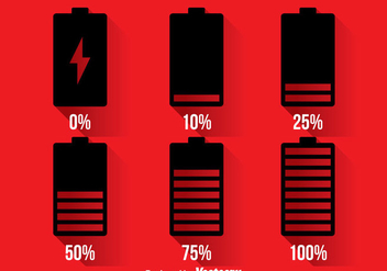 Phone Battery Indicator Icons - vector gratuit #359917