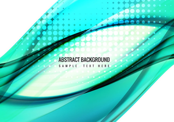 Free Vector Blue Wave Background - Free vector #359977