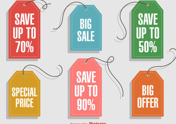 Hanging Discount Labels - vector #359997 gratis