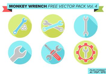 Monkey Wrench Free Vector Pack Vol. 4 - Kostenloses vector #360127