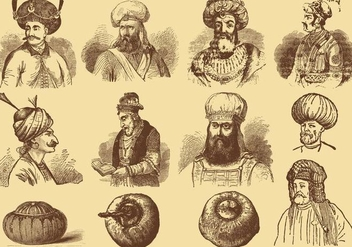 Men With Turbans - vector gratuit #360137