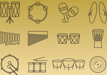 Percussion Instruments - бесплатный vector #360167