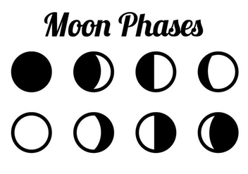 Free Moon Phases Vector - Free vector #360207