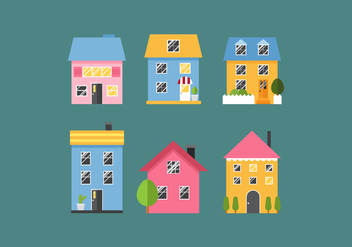Vector Townouses - Free vector #360217