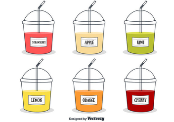 Fresh Juices Vector - vector #360237 gratis