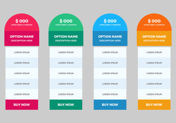 Free Pricing Table Vector - Kostenloses vector #360277