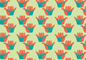 Free Shaka Flat Design Vector Pattern Illustration - Kostenloses vector #360287