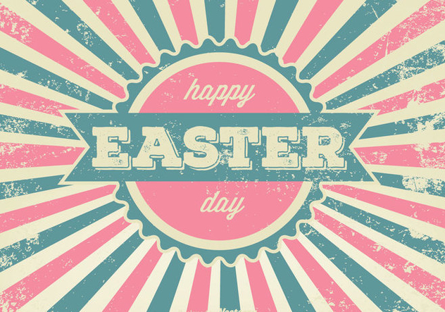 Grungy Easter Greeting Illustration - vector gratuit #360297