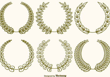 Vector Olive Wreaths Set - vector gratuit #360397