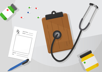 Vector Prescription Pad and Doctor Items - бесплатный vector #360417