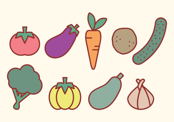 Vector Vegetables - vector gratuit #360457