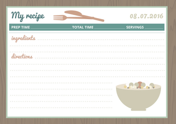 Vector Recipe Card - Kostenloses vector #360467