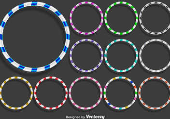 Vector Hula Hoops Icons Set - vector #360567 gratis