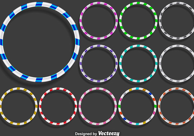 Vector Hula Hoops Icons Set - vector gratuit #360567