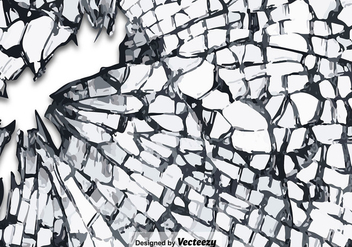 Vector Cracked Glass Texture - vector gratuit #360637