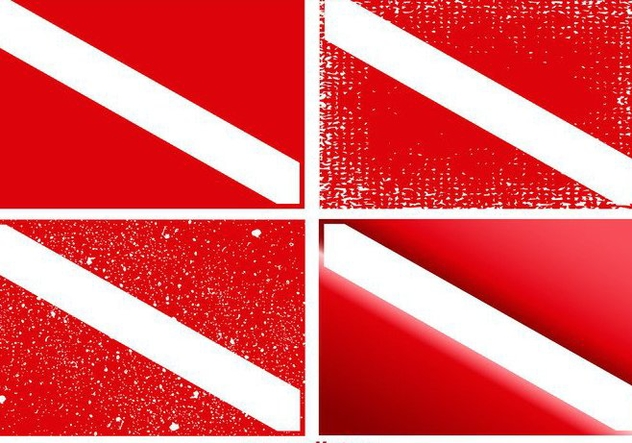 Vector Set of Dive Flags - vector #360657 gratis
