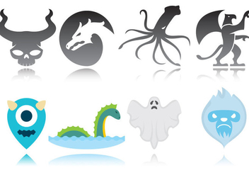 Monster Logos - vector gratuit #360677