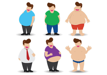 Fat Guy Vector - Free vector #360697