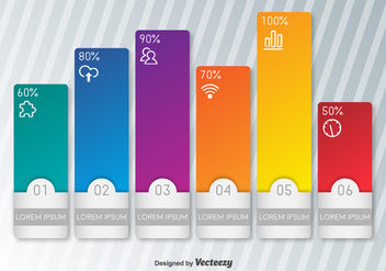 Vector Colorful Editable Indicators Of Percentage - бесплатный vector #360787