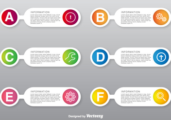 Vector Options Banners Set With Line Style Icons - Kostenloses vector #360797