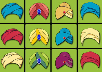 Turban Vector Set - Free vector #360827