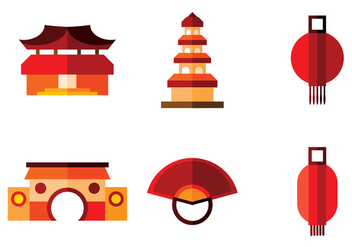 China Town Vector - vector #360867 gratis
