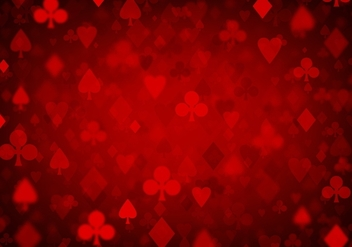 Free Vector Red Poker Background - vector gratuit #360967