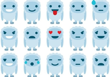 Yeti Emoticons - vector #361007 gratis