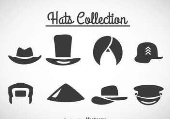 Hats Collection Icons Vector - Kostenloses vector #361037