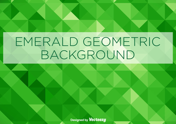 Emerald Green Geometrical Vector Background - vector gratuit #361047
