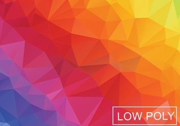 Low Poly Rainbow Abstract Background Vector - Free vector #361187