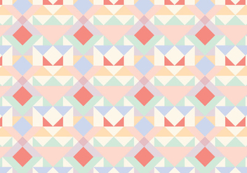 Pastel Geometric Abstract Pattern - vector gratuit #361237