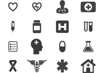 Free Medical Icon Set Vector - vector gratuit #361297