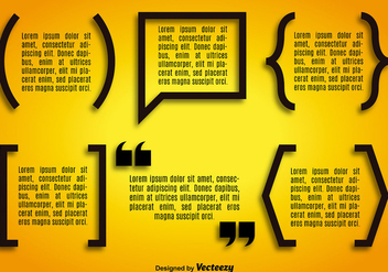 Vector quotation mark symbol set - vector #361307 gratis