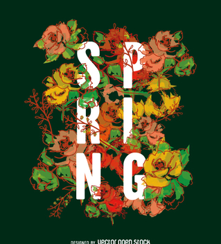 Typographic spring sign wallpaper - бесплатный vector #361427