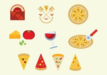 Free Pizza Vector Set - Kostenloses vector #361527