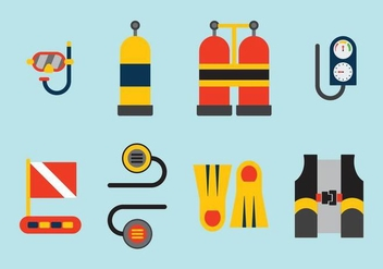 Free Vector Diving Elements - Free vector #361537