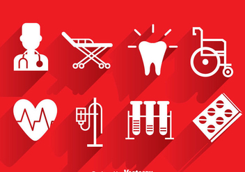 Medical White Icons - Free vector #361597
