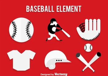 Baseball Icons Vector - Free vector #361637