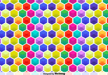 Vector Hexagon Colorful Pattern - Free vector #361667