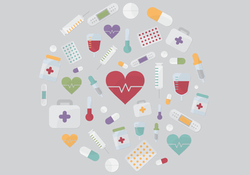 Medical Elements Vector - бесплатный vector #361757