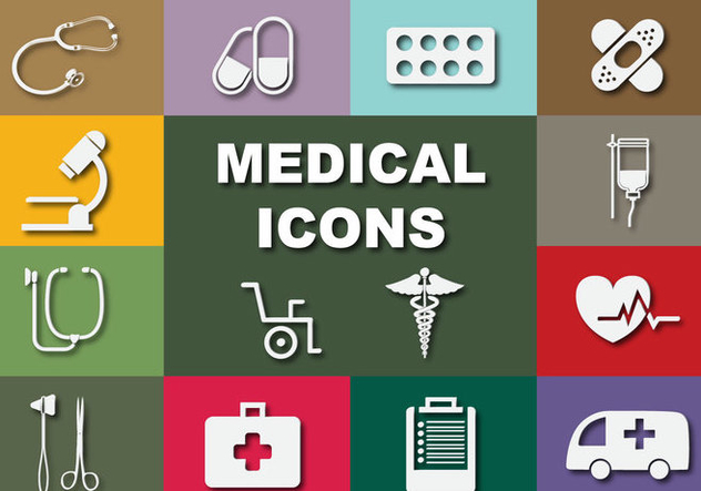 Flat Medical Vector Icons - Kostenloses vector #361767