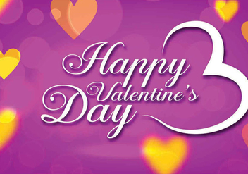 Purple Valentines Day Vector - бесплатный vector #361857