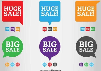 Sale and Discount Vector Labels - vector gratuit #361877