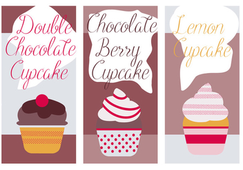 Free Cute Cupcakes Vector Background - vector gratuit #361887