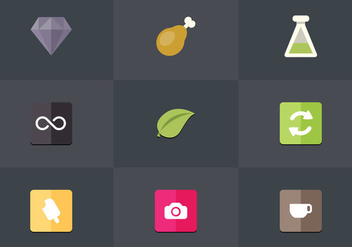 Free Flat Icon Set 11 Vector - vector #361897 gratis