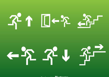 White Exit Icons Set - vector #361917 gratis
